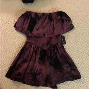 purple and black new romper